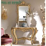 Meja Console and Mirror Gold Mewah